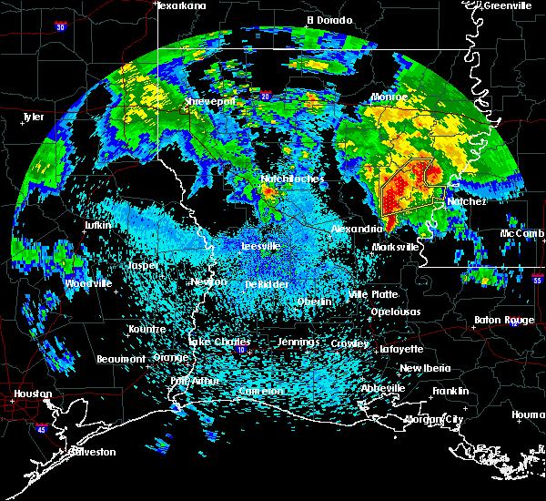 Radar Image for Severe Thunderstorms near Wisner, LA at 4/6/2019 2:09 PM CDT