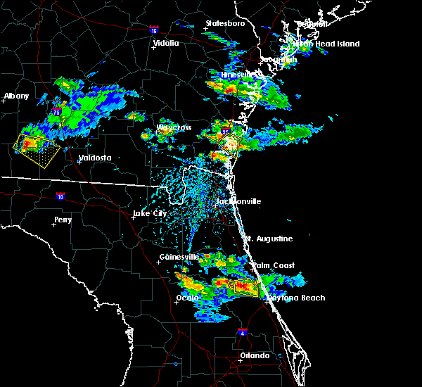 Radar Image for Severe Thunderstorms near Palm Coast, FL at 4/6/2019 5:57 PM EDT