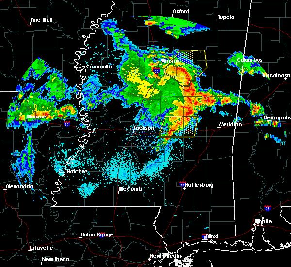 Radar Image for Severe Thunderstorms near Polkville, MS at 4/6/2019 5:55 PM CDT