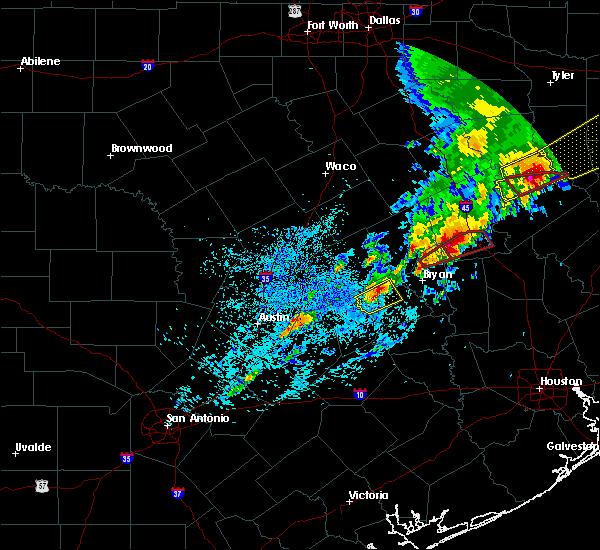 Radar Image for Severe Thunderstorms near Kurten, TX at 4/6/2019 6:13 PM CDT