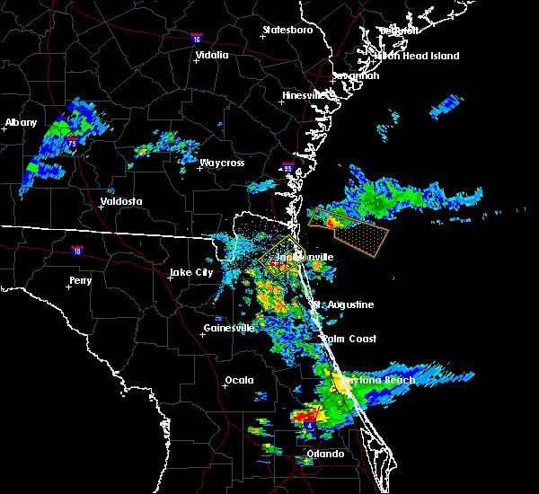 Radar Image for Severe Thunderstorms near Jacksonville, FL at 4/6/2019 7:41 PM EDT