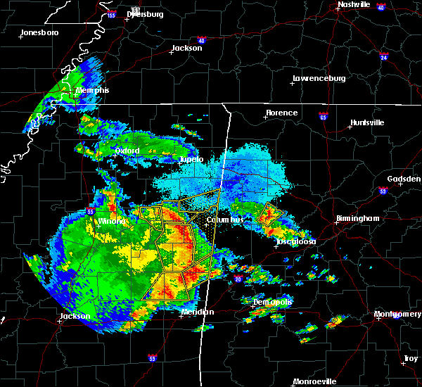 Radar Image for Severe Thunderstorms near Hamilton, MS at 4/6/2019 6:44 PM CDT