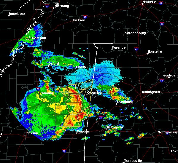 Radar Image for Severe Thunderstorms near Gattman, MS at 4/6/2019 6:44 PM CDT