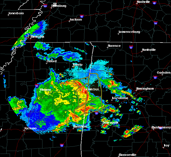 Radar Image for Severe Thunderstorms near Hamilton, MS at 4/6/2019 7:11 PM CDT