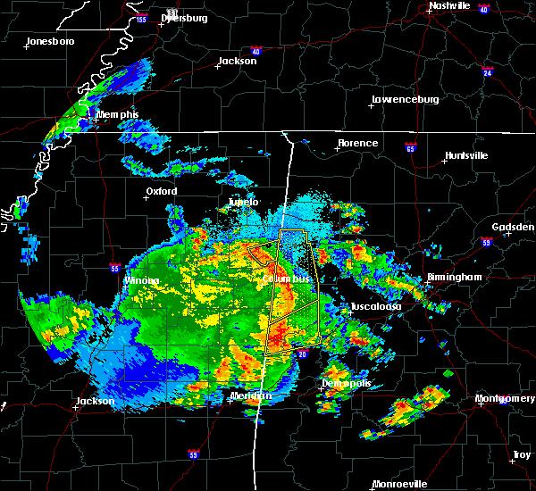 Radar Image for Severe Thunderstorms near Gattman, MS at 4/6/2019 7:21 PM CDT