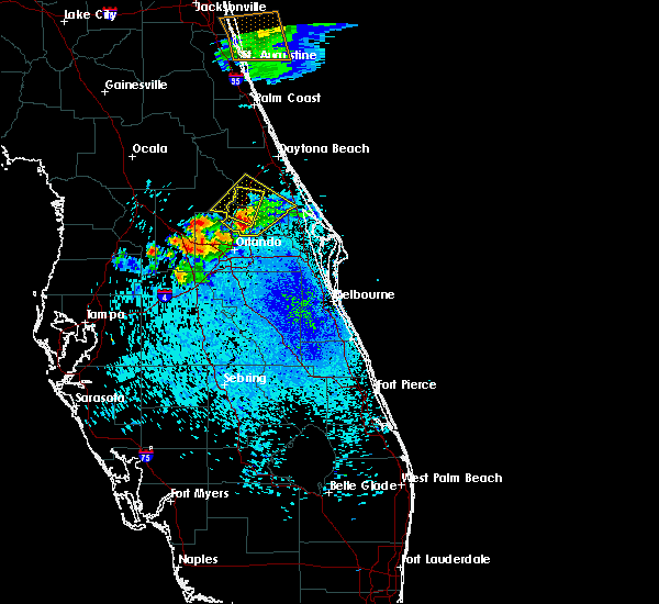 Radar Image for Severe Thunderstorms near Goldenrod, FL at 4/6/2019 8:55 PM EDT