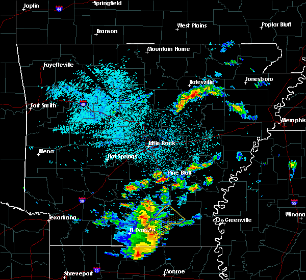 Radar Image for Severe Thunderstorms near Wilmar, AR at 4/7/2019 5:03 AM CDT