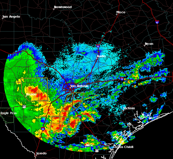 Radar Image for Severe Thunderstorms near San Antonio, TX at 4/7/2019 5:13 AM CDT