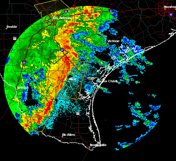 Radar Image for Severe Thunderstorms near Corpus Christi, TX at 4/7/2019 6:56 AM CDT