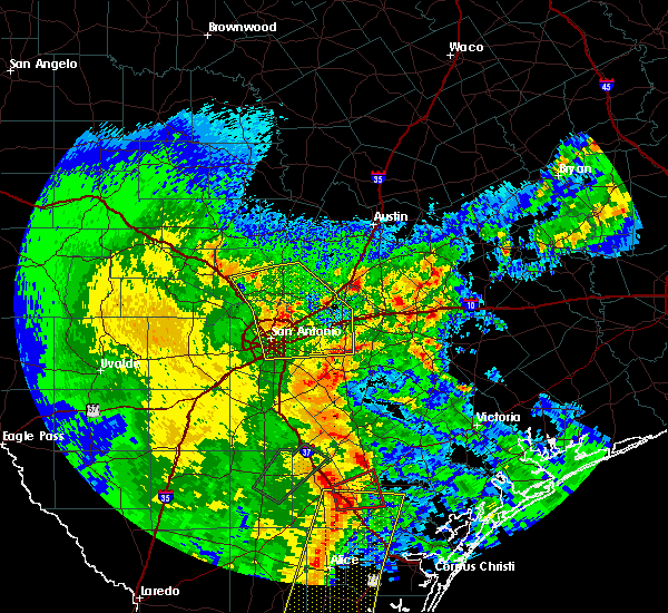 Radar Image for Severe Thunderstorms near Alamo Heights, TX at 4/7/2019 7:05 AM CDT