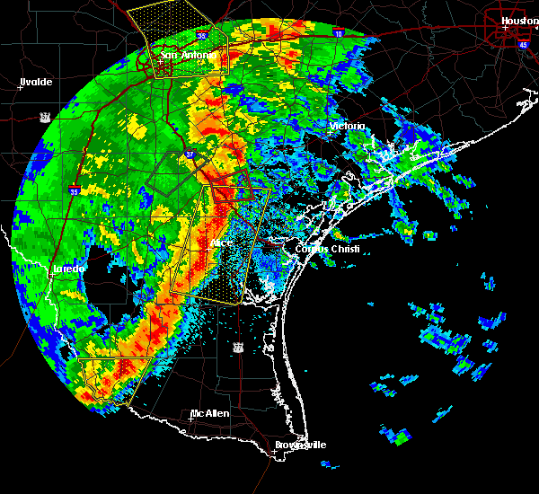 Radar Image for Severe Thunderstorms near Corpus Christi, TX at 4/7/2019 7:18 AM CDT