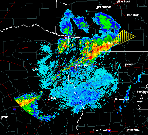 Radar Image for Severe Thunderstorms near Queen City, TX at 4/7/2019 7:37 AM CDT