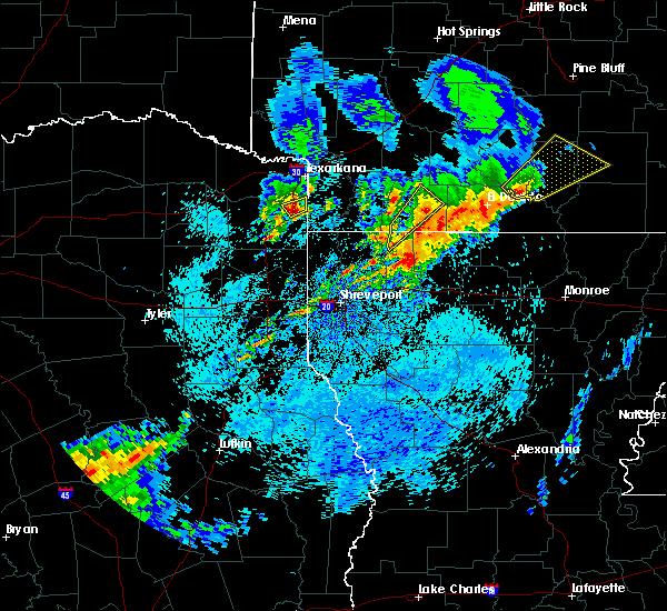 Radar Image for Severe Thunderstorms near Atlanta, TX at 4/7/2019 7:37 AM CDT