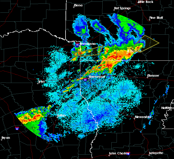 Radar Image for Severe Thunderstorms near Stamps, AR at 4/7/2019 7:48 AM CDT