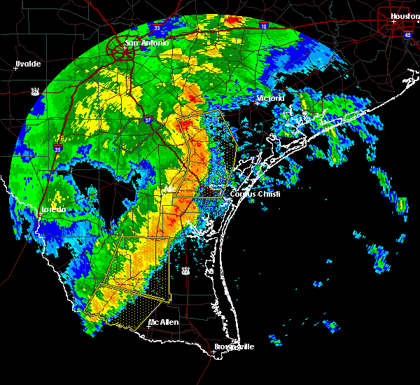 Radar Image for Severe Thunderstorms near Corpus Christi, TX at 4/7/2019 7:49 AM CDT