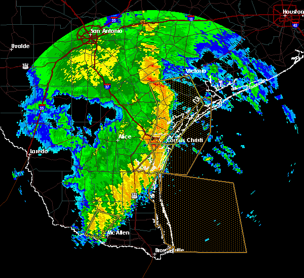 Radar Image for Severe Thunderstorms near Corpus Christi, TX at 4/7/2019 8:28 AM CDT
