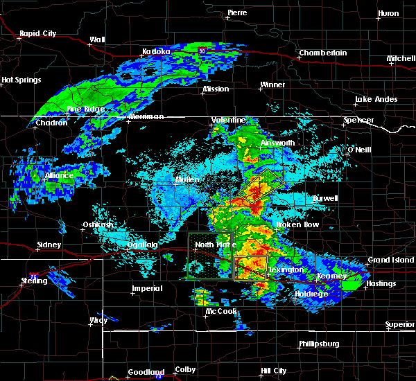 Radar Image for Severe Thunderstorms near Cozad, NE at 6/10/2015 4:53 PM CDT