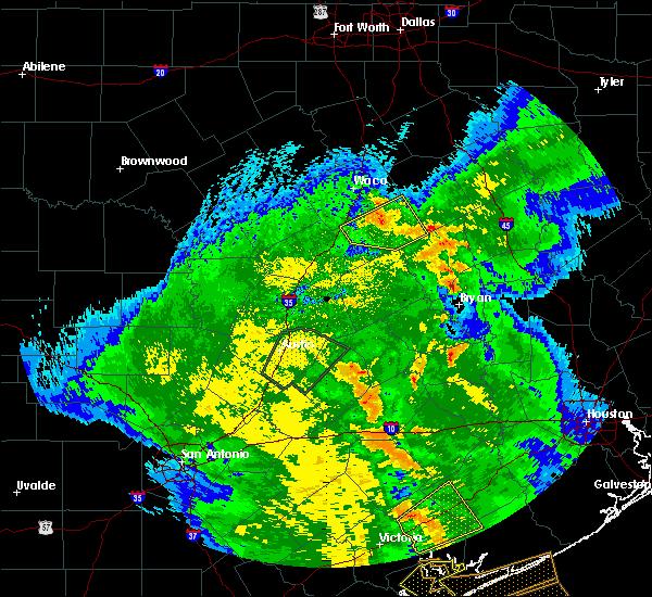 Radar Image for Severe Thunderstorms near Lott, TX at 4/7/2019 10:18 AM CDT
