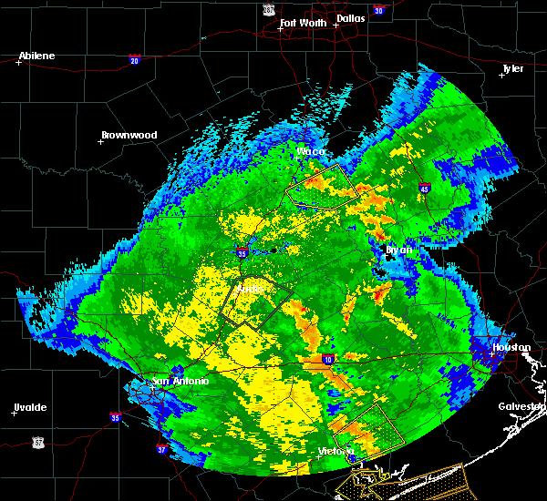 Radar Image for Severe Thunderstorms near Lott, TX at 4/7/2019 10:27 AM CDT
