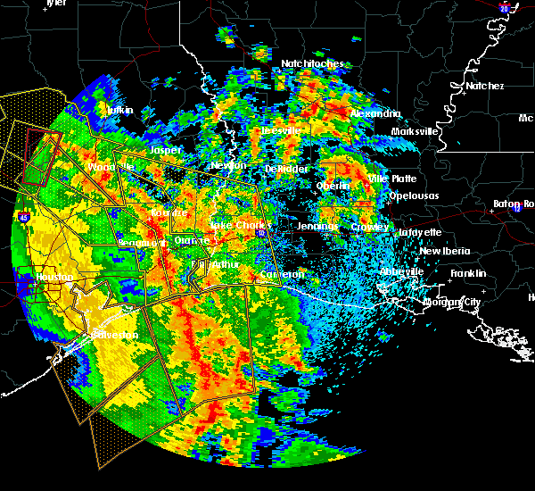 Radar Image for Severe Thunderstorms near Vidor, TX at 4/7/2019 2:14 PM CDT