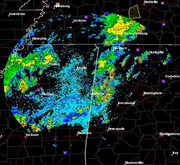 Radar Image for Severe Thunderstorms near Fayette, AL at 4/7/2019 4:04 PM CDT