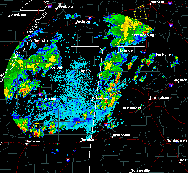 Radar Image for Severe Thunderstorms near Fayette, AL at 4/7/2019 4:11 PM CDT