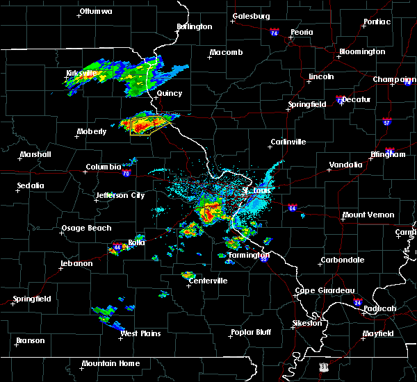Radar Image for Severe Thunderstorms near Hannibal, MO at 4/7/2019 7:05 PM CDT
