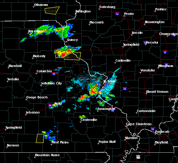 Radar Image for Severe Thunderstorms near Frankford, MO at 4/7/2019 7:15 PM CDT