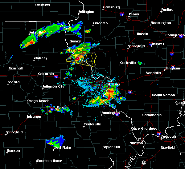 Radar Image for Severe Thunderstorms near Clarksville, MO at 4/7/2019 7:48 PM CDT