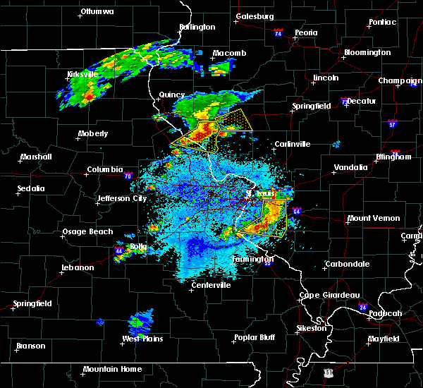 Radar Image for Severe Thunderstorms near Caseyville, IL at 4/7/2019 8:19 PM CDT
