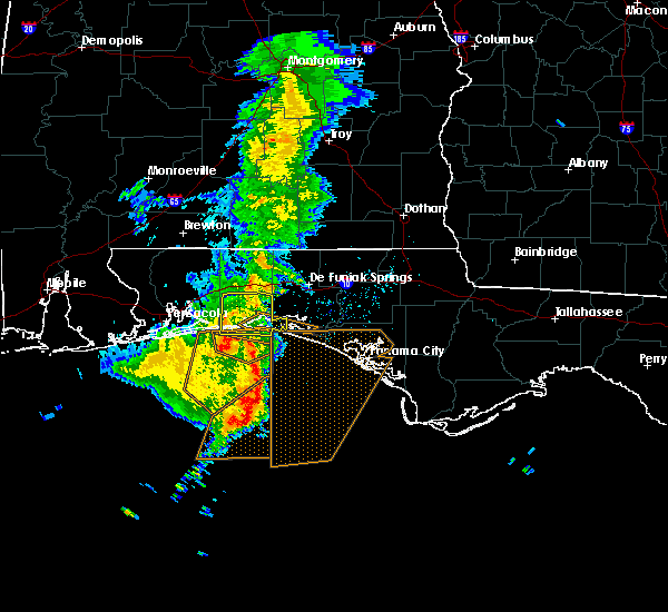Radar Image for Severe Thunderstorms near Destin, FL at 4/8/2019 4:55 AM CDT