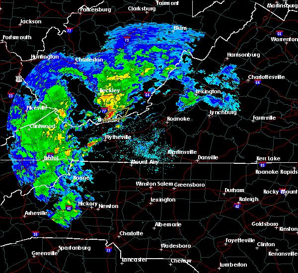 Radar Image for Severe Thunderstorms near Glen Lyn, VA at 4/8/2019 1:20 PM EDT