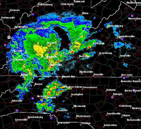 Radar Image for Severe Thunderstorms near Daleville, VA at 4/8/2019 2:41 PM EDT