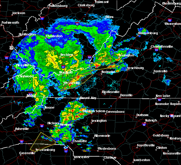 Radar Image for Severe Thunderstorms near Hiwassee, VA at 4/8/2019 2:50 PM EDT