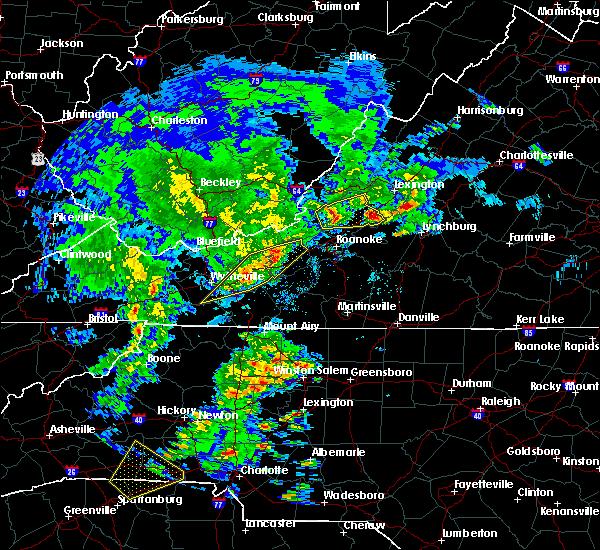 Radar Image for Severe Thunderstorms near Buchanan, VA at 4/8/2019 3:06 PM EDT