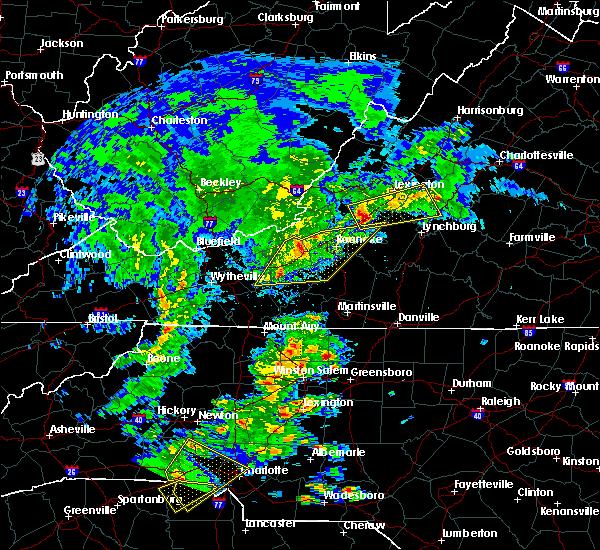 Radar Image for Severe Thunderstorms near Buchanan, VA at 4/8/2019 3:33 PM EDT