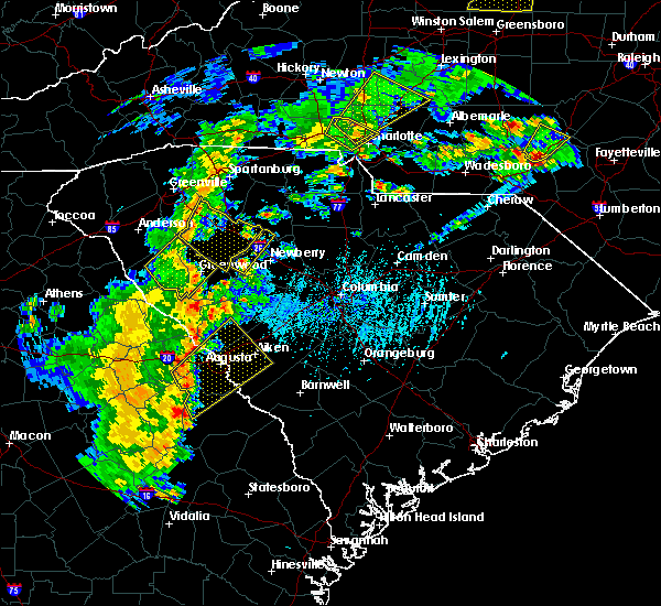 Radar Image for Severe Thunderstorms near Murphys Estates, SC at 4/8/2019 4:10 PM EDT