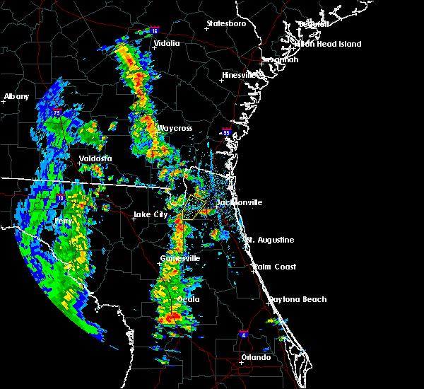 Radar Image for Severe Thunderstorms near Jacksonville, FL at 4/8/2019 4:53 PM EDT