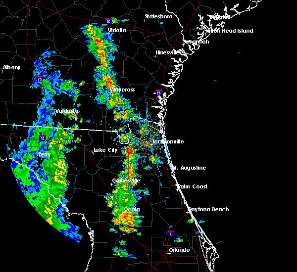 Radar Image for Severe Thunderstorms near Jacksonville, FL at 4/8/2019 5:06 PM EDT