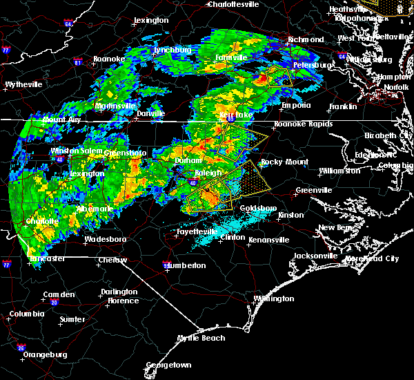 Radar Image for Severe Thunderstorms near Clayton, NC at 4/8/2019 6:14 PM EDT