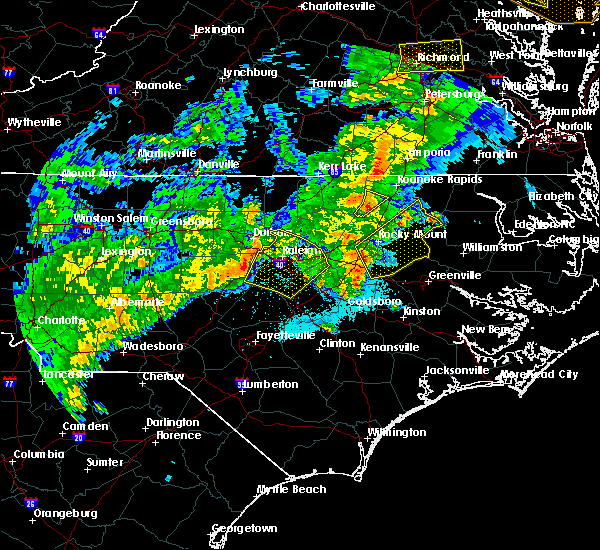 Radar Image for Severe Thunderstorms near Hollister, NC at 4/8/2019 6:51 PM EDT