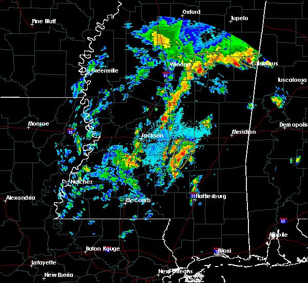 Radar Image for Severe Thunderstorms near Sylvarena, MS at 4/8/2019 7:37 PM CDT