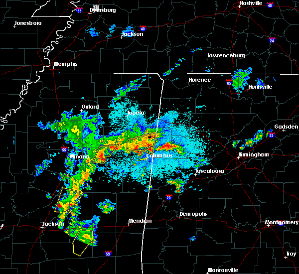 Radar Image for Severe Thunderstorms near Hamilton, MS at 4/8/2019 7:59 PM CDT