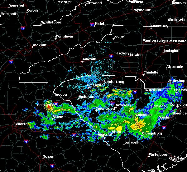 Radar Image for Severe Thunderstorms near Commerce, GA at 4/9/2019 12:24 PM EDT