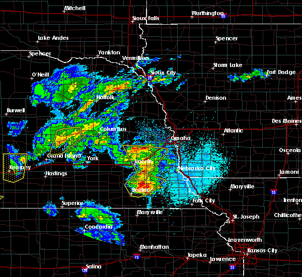 Radar Image for Severe Thunderstorms near Woodland Hills, NE at 4/10/2019 9:38 PM CDT