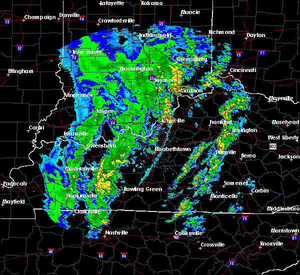 Radar Image for Severe Thunderstorms near Utica, KY at 4/12/2019 6:47 AM EDT
