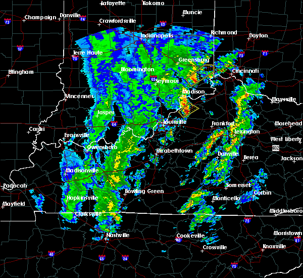 Radar Image for Severe Thunderstorms near Campbellsburg, KY at 4/12/2019 7:02 AM EDT