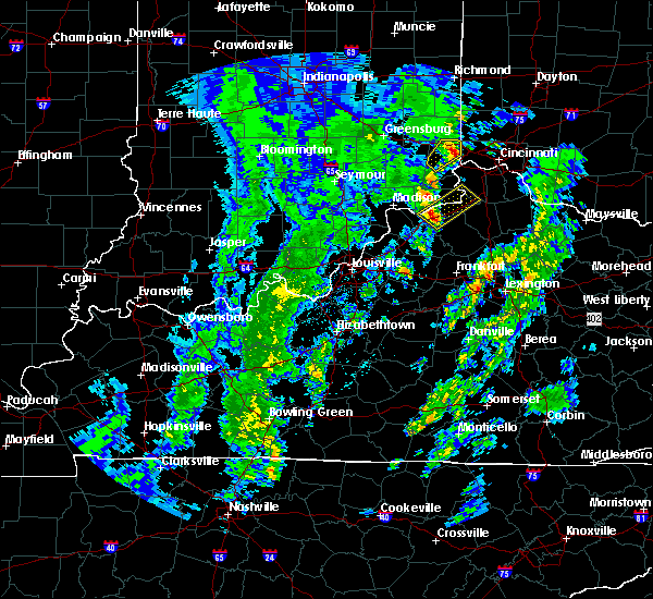 Radar Image for Severe Thunderstorms near Ghent, KY at 4/12/2019 7:23 AM EDT