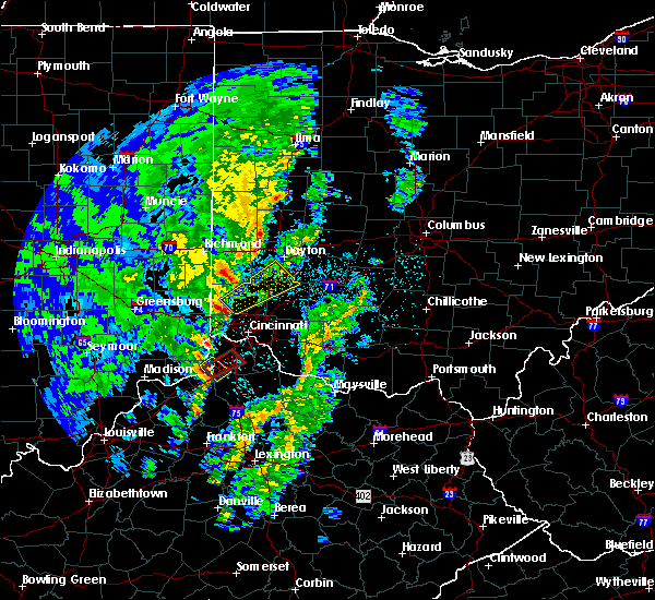 Radar Image for Severe Thunderstorms near Trenton, OH at 4/12/2019 7:42 AM EDT