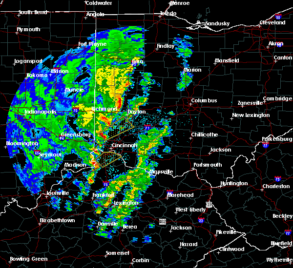 Radar Image for Severe Thunderstorms near Cincinnati, OH at 4/12/2019 7:47 AM EDT